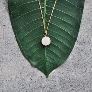 HANA Perlmutt Halskette | Necklace Gold - The Santai Collection