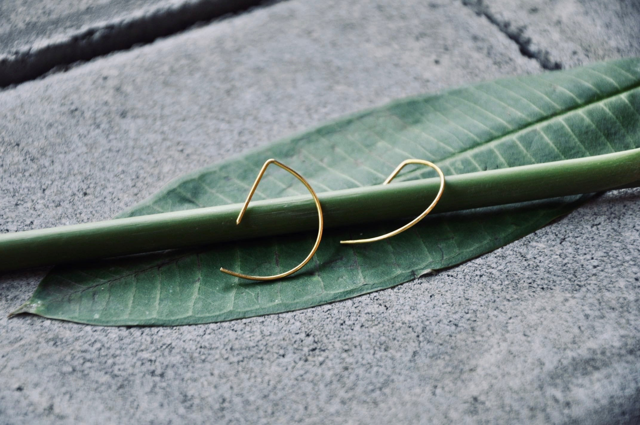 LIN Ohrring | Earring Gold - The Santai Collection