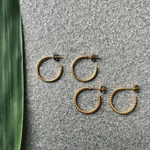 NARA small Ohrring | Earring Gold - The Santai Collection