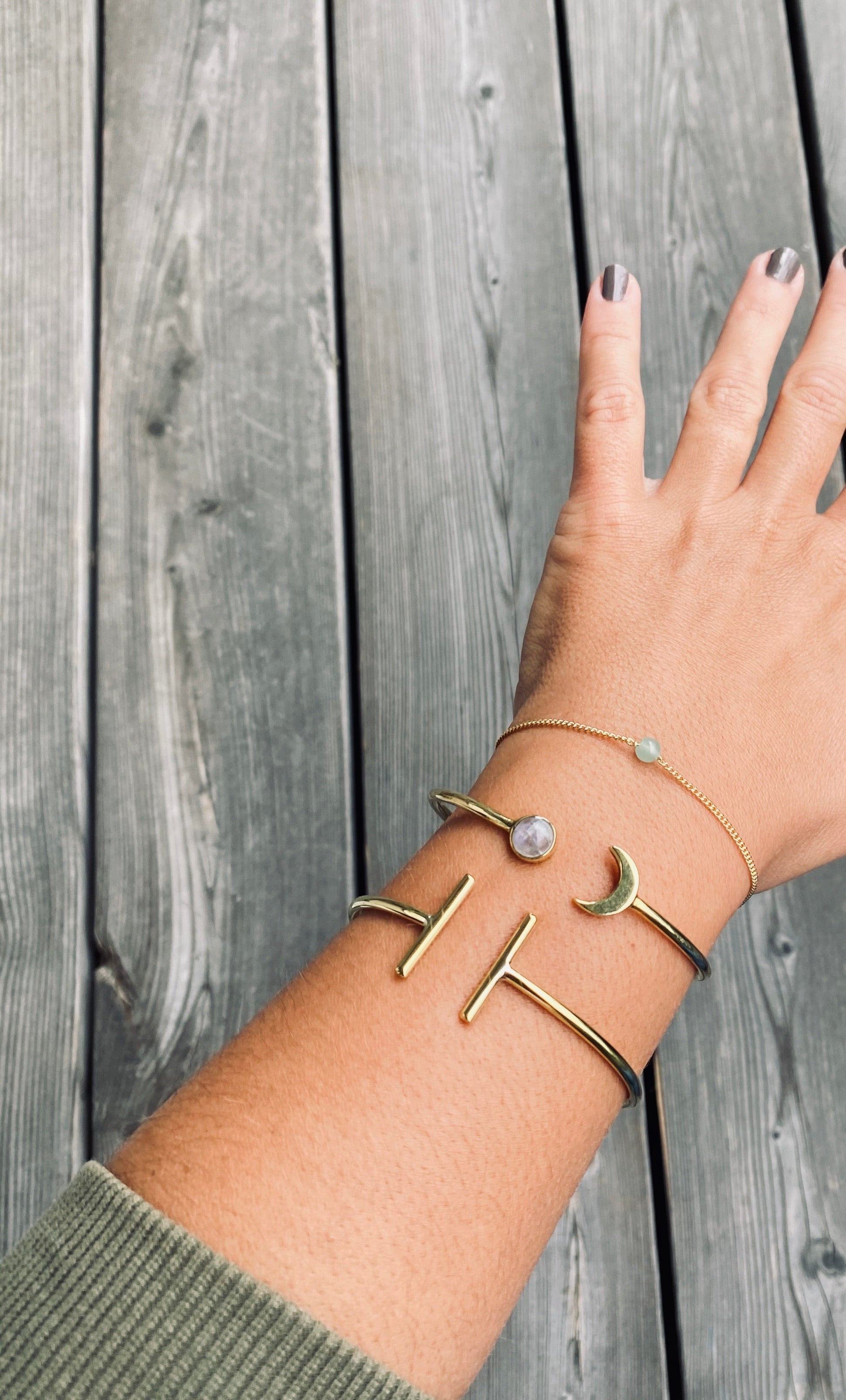 SEA YOU MOON Armreif | Bracelet Gold