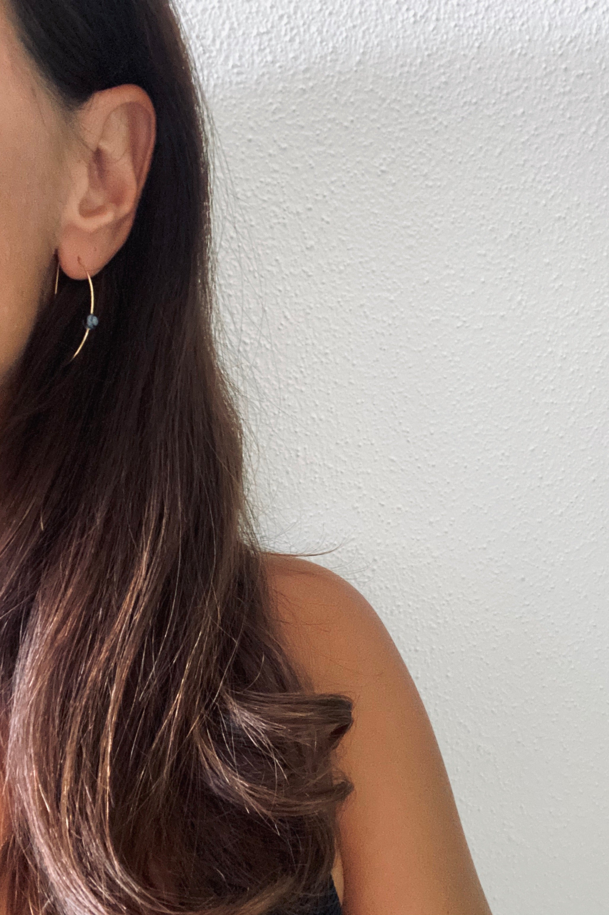 LIN Ohrring mit Stein | Earring Gold