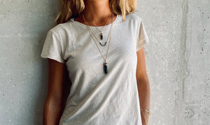 BELLE BLACK AGATE Halskette | Necklace Gold