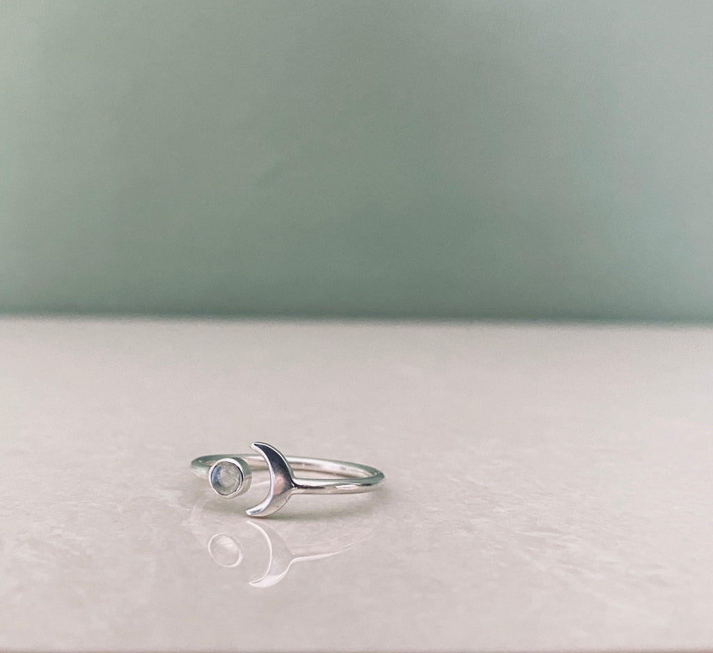 SEA YOU MOON RING Ring Silver