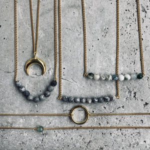 SEA YOU MOON Halskette | Necklace Gold