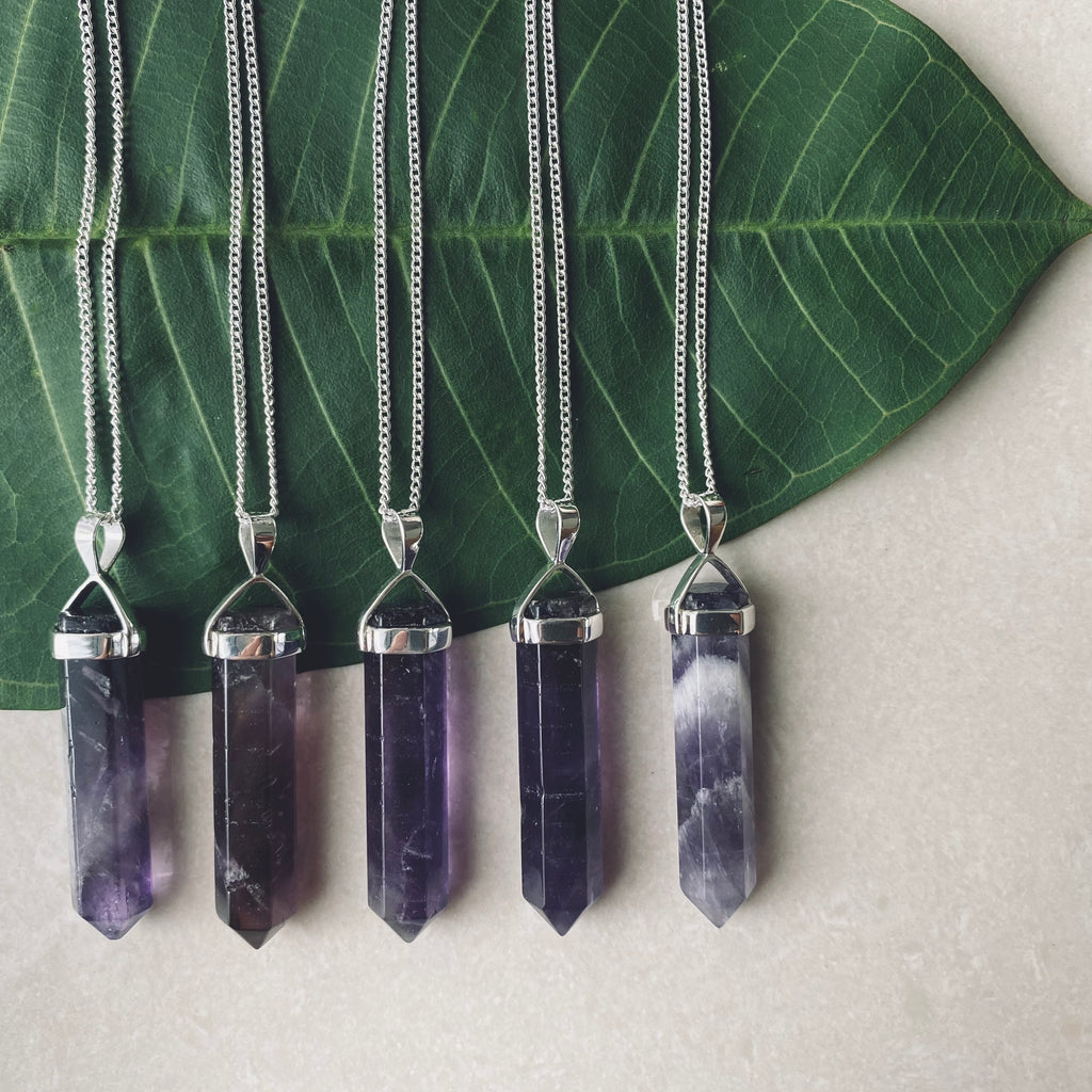 BELLE AMETHYST Halskette | Necklace Silver
