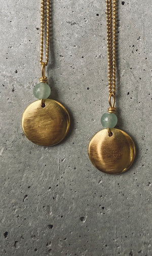 ANAM AVENTURIN Halskette | Necklace Gold