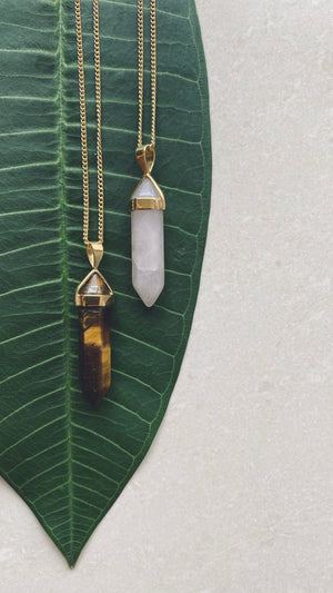 BELLE Tiger Eye Halskette | Necklace Gold