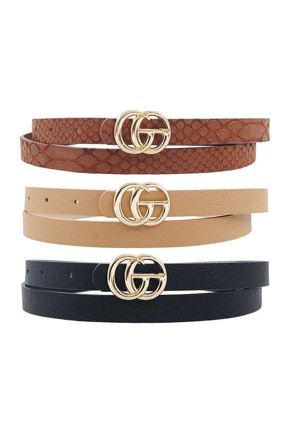 Fashion Skinny Casual 3pcs. Belt Set