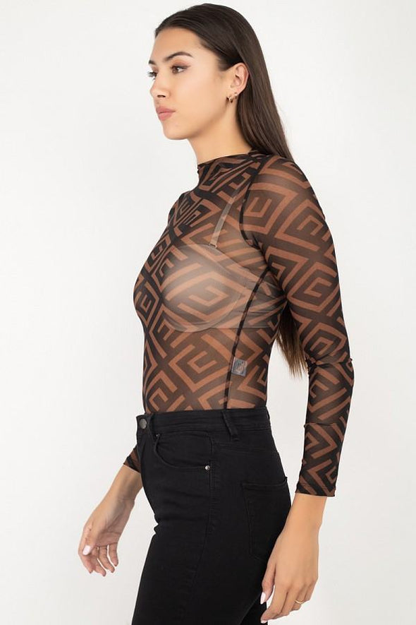Fund Me Geometric Bodysuit