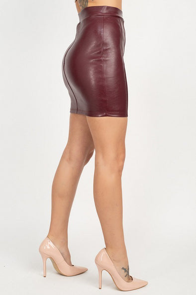 Stuck On You Front Zip Mini Skirt
