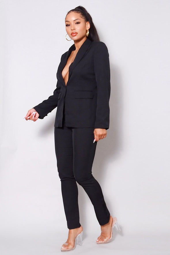 Boss Babe Blazer Jacket & Tapered Trouser Set