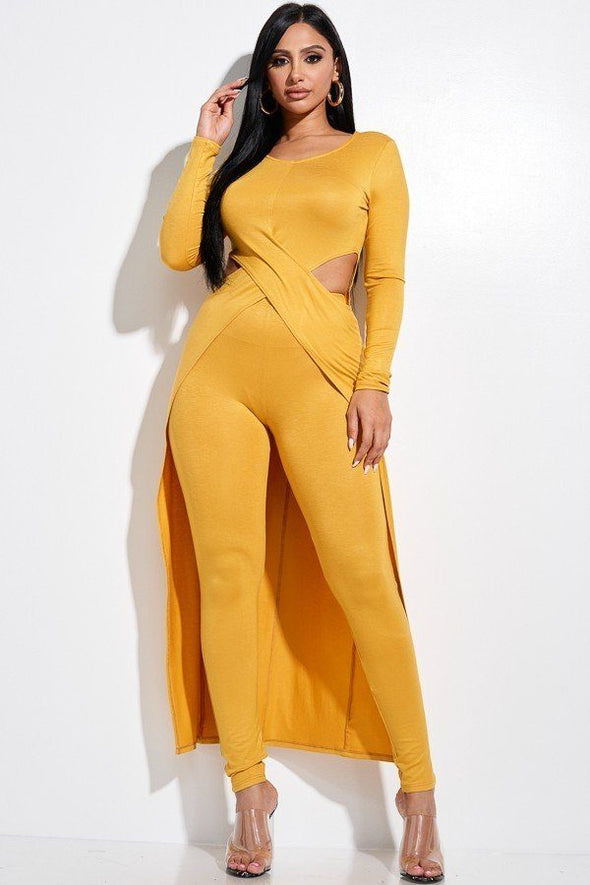 Ivy Top And Leggings 2 Piece Set Mustard