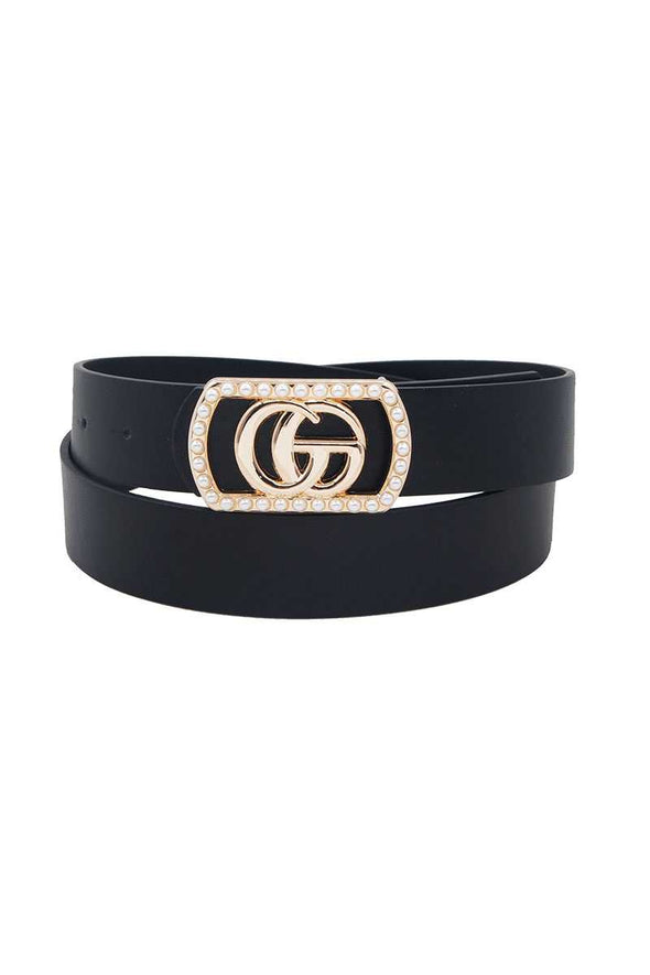 Go Buckle In Rectangle Frame With Pearls