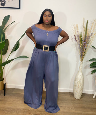 Chill Mode Wide Leg Off Shoulder Jumpsuit PLUS SIZE