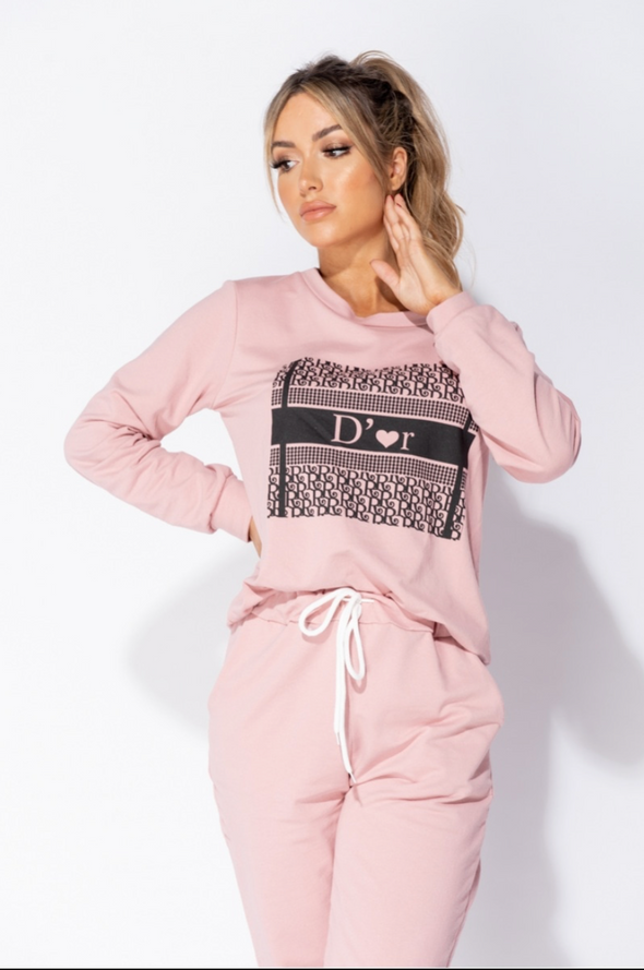 D'or Me Jogger Set Rose Pink Blogger Style