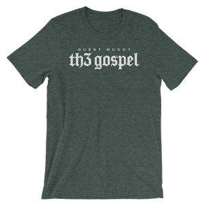 Men's Th3 Gospel Script Unisex Short Sleeve Jersey T-Shirt with Tear Away Label