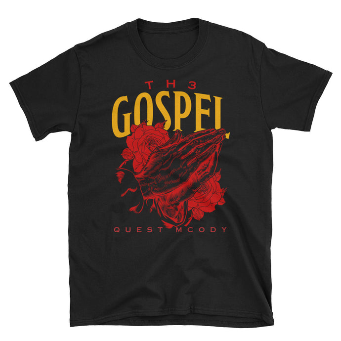 Th3 Gospel Collection Red/Gold Unisex Softstyle T-Shirt with Tear Away Label