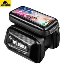Load image into Gallery viewer, 6.2 Inch Phone Case Touch Screen Frame Front Top Tube Bike Bag - Northern Bears