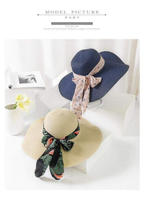 Bow Ribbon Floppy Straw Summer Hat - Northern Bears