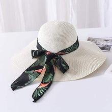 Load image into Gallery viewer, Bow Ribbon Floppy Straw Summer Hat - Northern Bears