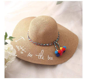 UV Protect Big Bow Summer Beach Straw Hat - Northern Bears