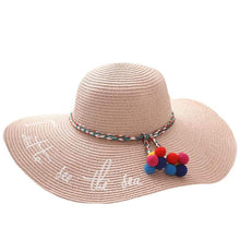 Load image into Gallery viewer, UV Protect Big Bow Summer Beach Straw Hat - Northern Bears