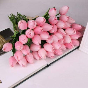 10 Pcs Real Touch Latex Tulips Flower - Artificial Bouquet - Northern Bears