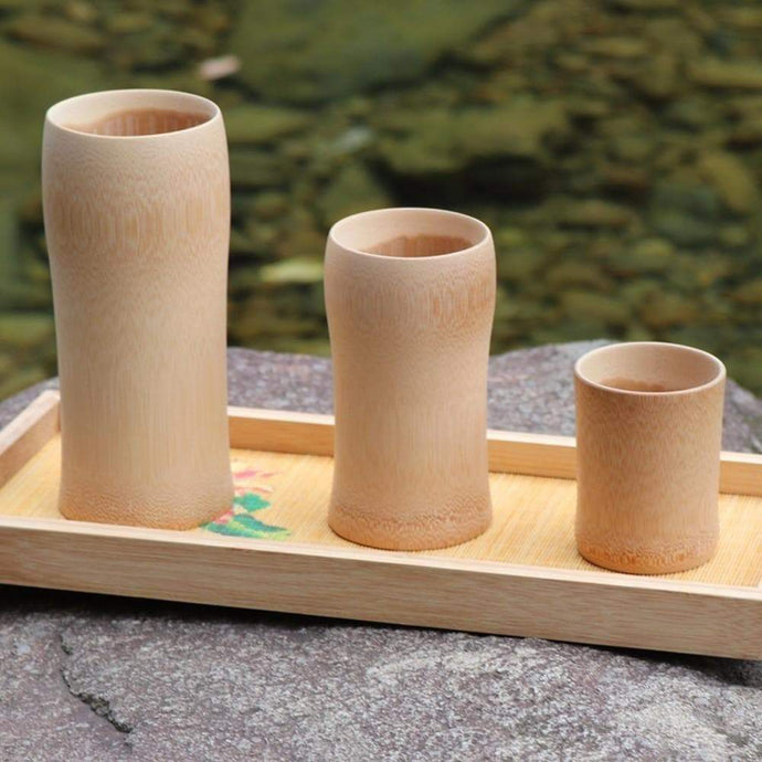 Natural Bamboo Wood Cups - Northern Bears