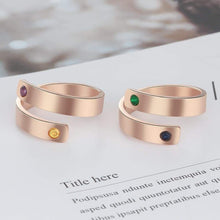 Load image into Gallery viewer, Personalized Birthstone Ring - Northern Bears