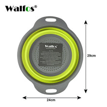 Load image into Gallery viewer, WALFOS Foldable Silicone Colander Fruit Vegetable Washing Basket Strainer Strainer Collapsible Drainer With Handle Kitchen Tools