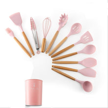 Load image into Gallery viewer, Silicone Cookware Set Kitchen Utensils Cooking Sets Kitchen Kit Accessories Gadgets Tools with Holder Box Nonstick Eco-Friendly