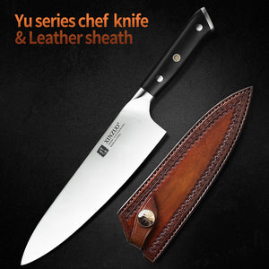 XINZUO 8.5'' inch Chef Knife German 1.4116 Stainless Steel Kitchen Knives New Arrival Cooking Accessory Tools with Ebony Handle