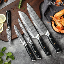 XITUO Damascus Chef Knife VG10 Professional Kitchen Knife Cleaver Cooking Tool Exquisite Plum Rivet G10 Handle With Knives Cover