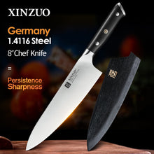 Load image into Gallery viewer, XINZUO 8.5'' inch Chef Knife German 1.4116 Stainless Steel Kitchen Knives New Arrival Cooking Accessory Tools with Ebony Handle