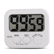 White Mini Electronic Large LCD Digital Kitchen Timer Clock Countdown Count Time Loud Alarm Home Oven Cooking Tools Accessories