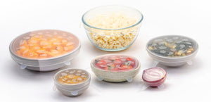 FutureUses™ Silicone Stretch Lids 6 Pack Bowl Covers Various Sizes