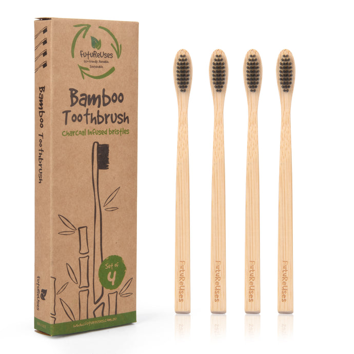 **NEW ARRIVAL** FutureUses™ - Bamboo Toothbrush - 4 Pack childs/adults