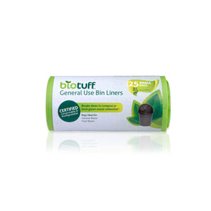 BIOTUFF General Use Bin Liners 25 Bags Biodegradable - 3 SIZES, SMALL, MEDIUM AND LARGE