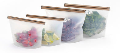 FutureUses® Reusable Silicone Ziplock Storage Bags Pack of 4 - FutureUses™