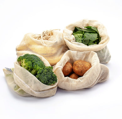 FutureUses® Organic Cotton Produce Bags Pack of 4 or 8 - FutureUses®