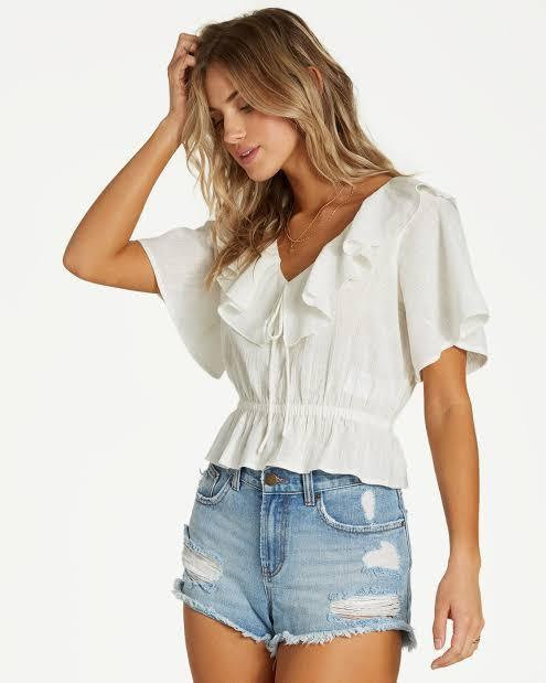 Billabong Women's Apparel - Tops S / WHT Billabong - Romantic Vista