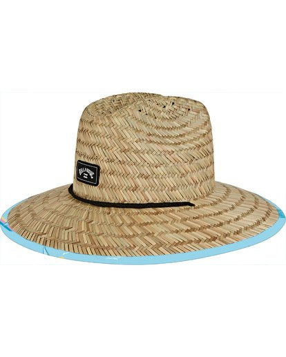 Billabong - Tides Print Straw Lifeguard Hat, Light Blue