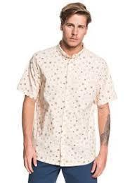 Quiksilver Men's Apparel - Wovens S / BRN Quiksilver - Ditsy SS Stretch Reg.