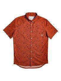Quiksilver Men's Apparel - Wovens S / ORG Quiksilver - Ditsy SS Stretch Reg.