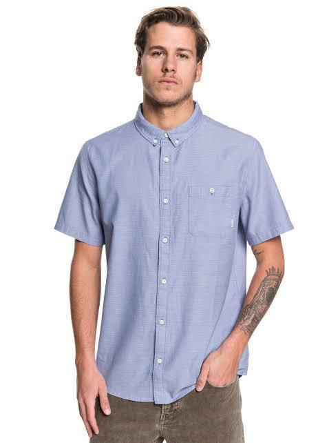 Quiksilver Men's Apparel - Wovens S / BLU Quiksilver - SS Waterfalls Reg.