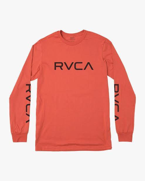 RVCA Men's Apparel - Shirts S / RED RVCA - BIG RVCA LS