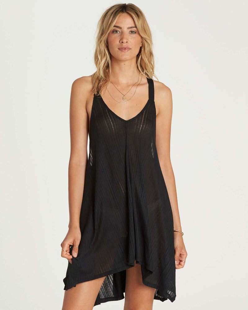 -Billabong- Women's Apparel - Dresses X-Small / Black Pebble Z-Billabong - Twisted View