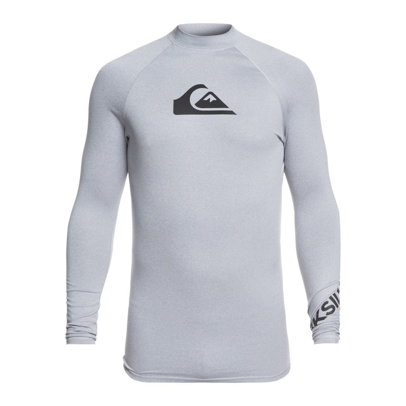 -Quiksilver- Men's Apparel - Rashguard Small / Light Grey Heather Z-Quiksilver - Alltimls Rashguard