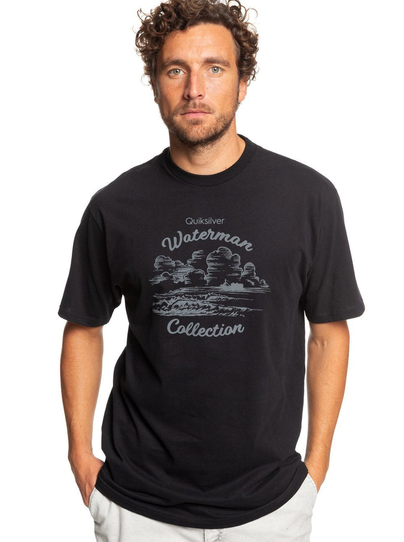 '-Quiksilver- Men's Apparel - Shirts Small / Black Z-Quiksilver - Coral Cocotier