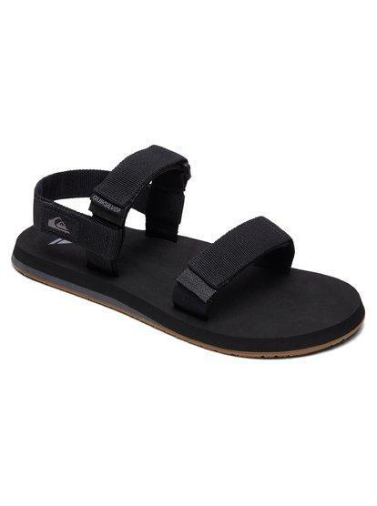 '-Quiksilver- Men's Sandals 8 / Black Grey Brown Z-Quiksilver - Monkey Caged
